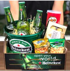 Cesta Heineken com petiscos - Ref. F925