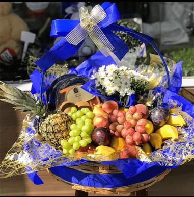 Cesta de Frutas com Bolo