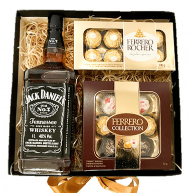 Caixa Whisky e Chocolates - Ref. F974