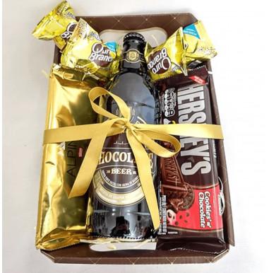 Caixa com Cerveja de Chocolate - Ref. F927