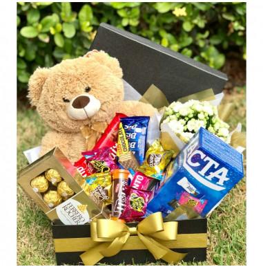 Caixa doce urso e chocolates - Ref. F773